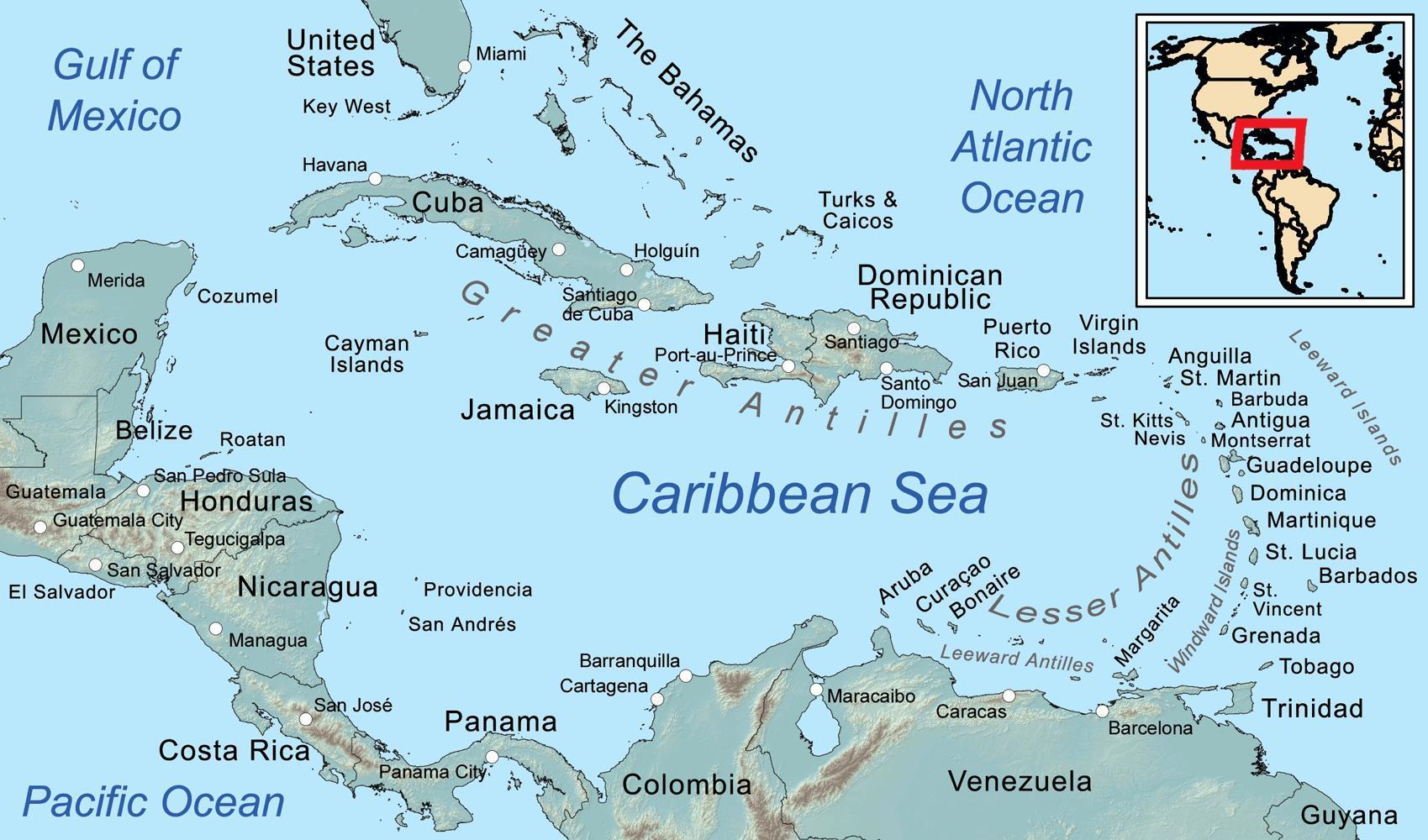 Belize Insulele Harta Hartă Din Belize și Insulele Din Jur In