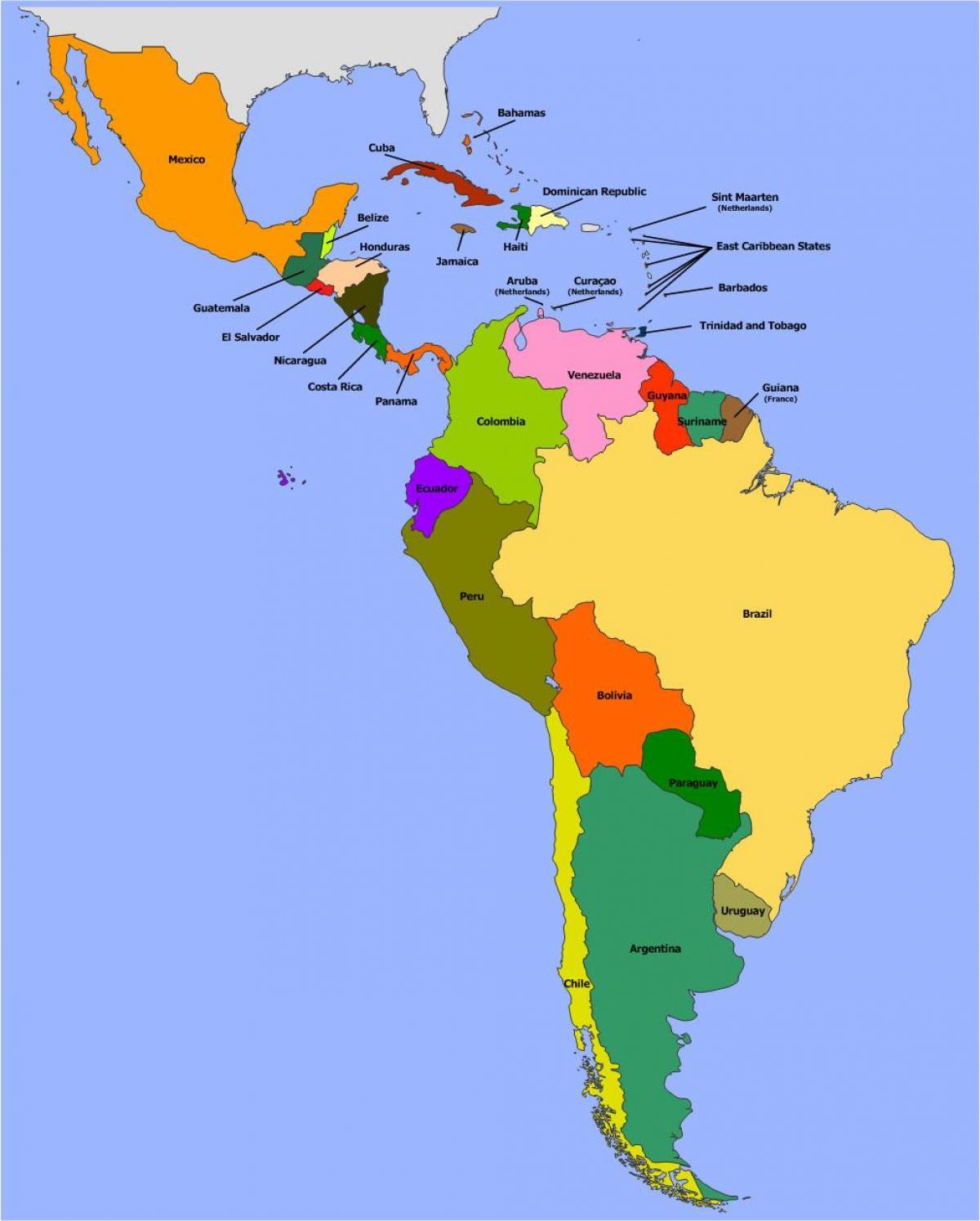 Belize America De Sud Harta Hartă De Belize America De Sud