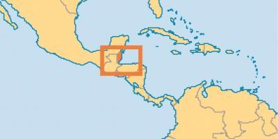 Belize Hartă Hărți Belize America Centrală America